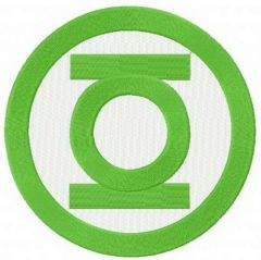 Green Lantern logo embroidery design