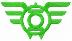 Green Lantern Wings logo embroidery design