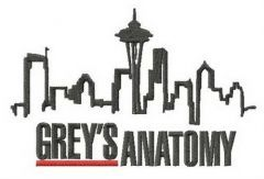 Grey's Anatomy Seattle embroidery design