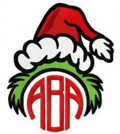 Grinch ABA embroidery design