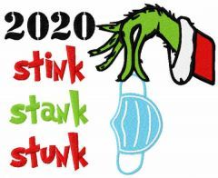 Grinch Christmas 2020 embroidery design