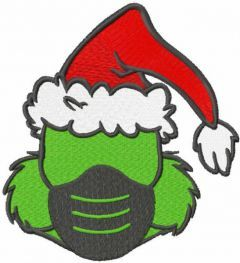 Grinch Christmas Mask embroidery design
