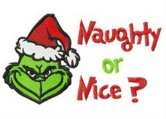 Grinch Naughty or Nice? embroidery design