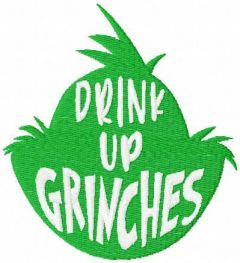 Grinches embroidery design
