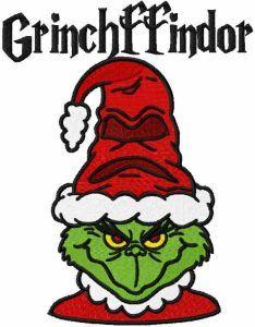 Grinchffindor embroidery design
