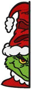 Grinchffindor under door embroidery design