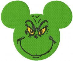 Grinchmouse embroidery design