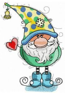 Gnomes celebrate Valentine's Day too embroidery design
