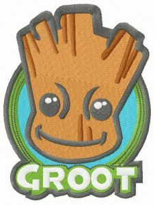Groot badge embroidery design