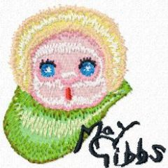 Gumnut baby face free embroidery design