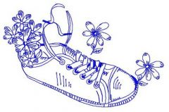 Gumshoes 7 embroidery design