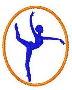 Gymnastics 3 embroidery design