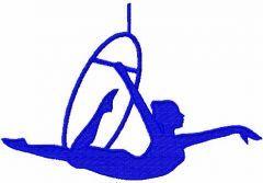 Gymnastics 4 embroidery design