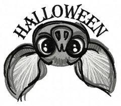 Halloween bat 2 embroidery design