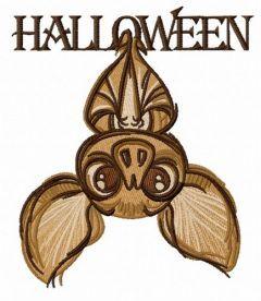 Halloween bat 4 embroidery design