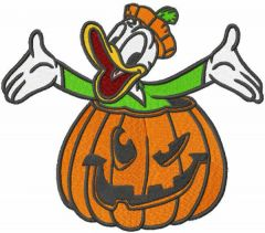 Halloween Donald duck embroidery design