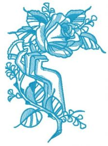 Hand holding rose 2 embroidery design