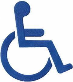 Handicap Accessible Symbol free embroidery design