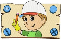 Handy Manny 3 embroidery design