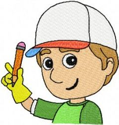 Handy Manny 4 embroidery design