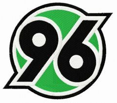Hannover 96 logo embroidery design