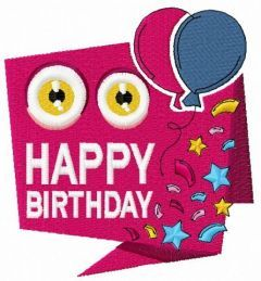 Happy birthday 2 embroidery design