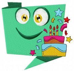 Happy birthday 3 embroidery design