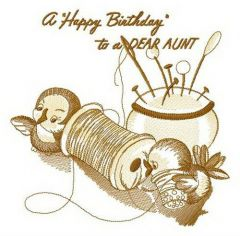A Happy Birthday to a dear aunt 2 embroidery design