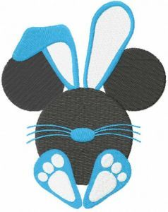 Happy easter baby mickey embroidery design