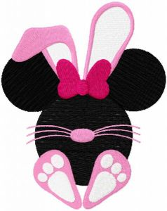Happy easter baby minnie embroidery design