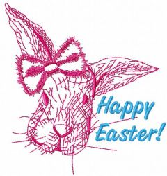 Happy Easter bunny 3 embroidery design