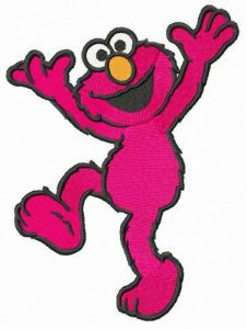 Happy Elmo embroidery design