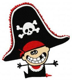 Happy pirate birthday 2 embroidery design