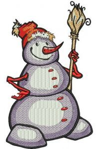 Happy snowman 5 embroidery design