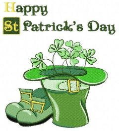 Happy St. Patric's Day embroidery design