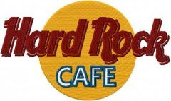 Hard Rock Cafe Logo embroidery design