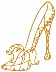Harlequin high heels 2 embroidery design