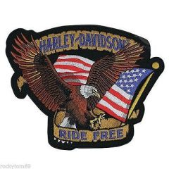Harley Davidson ride free embroidery design