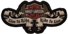 Harley Davidson logo Live to Ride embroidery design
