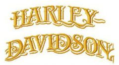 Harley-Davidson retro embroidery design