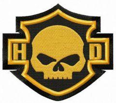 Harley-Davidson skull logo embroidery design