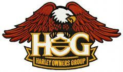 Harley owners group logo embroidery design