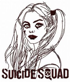 Harley Quinn 3 embroidery design