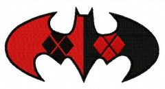 Harley Quinn Batman machine embroidery design