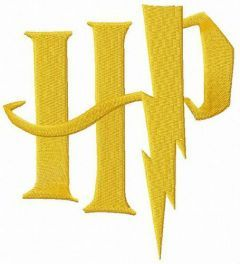 Harry Potter logo embroidery design