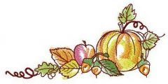 Harvest festival embroidery design