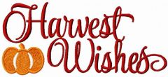 Harvest Wishes embroidery design