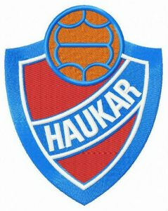 Haukar logo embroidery design