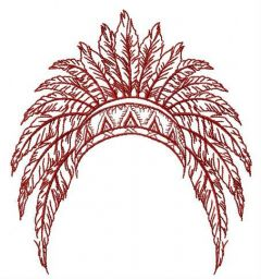 Headdress embroidery design