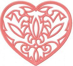 Heart lace 2 embroidery design